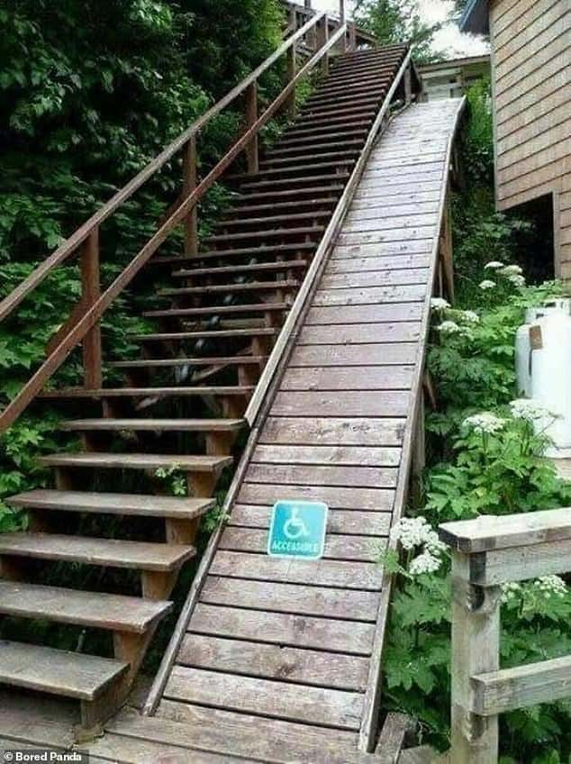 Shocking photographs show accessibility design fails ...